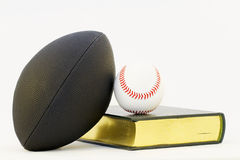 Athletic and Scholarly Pursuits Royalty Free Stock Photography
