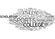 Athletic Scholarships Word Cloud Concept. Athletic Scholarships Text Background Word Cloud Concept Royalty Free Stock Photos