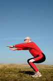 Athletic senior man royalty free stock photos
