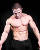 Athletic sexy attractive male body builder Royalty Free Stock Image