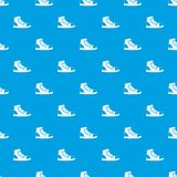 Athletic shoe pattern seamless blue Royalty Free Stock Photos