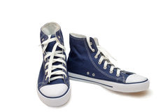 Athletic shoes - men's sneakers on a white background. Royalty Free Stock Photos
