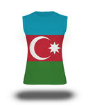 Athletic sleeveless shirt with Azerbaijan flag on white background and shadow Royalty Free Stock Images