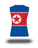 Athletic sleeveless shirt with DPR Korea flag on white backgroun Royalty Free Stock Image