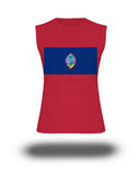 Athletic sleeveless shirt with Guam flag on white background and shadow Stock Photography