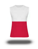 Athletic sleeveless shirt with Poland flag on white background and shadow Stock Photography