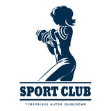 Athletic Sport Club Emblem Royalty Free Stock Images