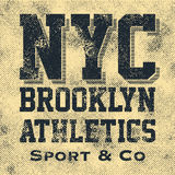 Athletic sport New York typography Royalty Free Stock Photography