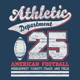 Athletic sport t-shirt graphics Royalty Free Stock Images