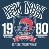 Athletic sport typography, Sportswear t-shirt Stock Image