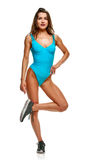 Athletic sporty woman Stock Photos
