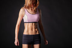 Athletic, strong and beautiful female body Royalty Free Stock Photography