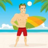 Athletic Surfer Beach Stock Photos