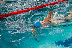 Athletic swimmer in action 4 Royalty Free Stock Images