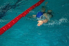 Athletic swimmer in action 3 Royalty Free Stock Image