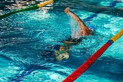 Athletic swimmer in action 9 Royalty Free Stock Image