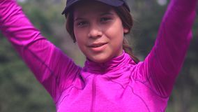 Athletic Teen Girl Stretching stock video