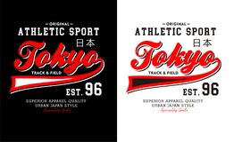 Athletic Tokyo typography design. Athletic Tokyo T-shirt graphic Typography Design vector illustration