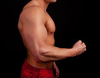 Athletic torso of atlhete Royalty Free Stock Photography