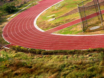 Athletic Track. An athletic track from a stadium Royalty Free Stock Photography