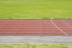 The athletic track Stock Image