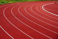 Athletic track. On sports stadium Royalty Free Stock Photography