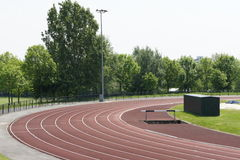 The athletic track Royalty Free Stock Photography