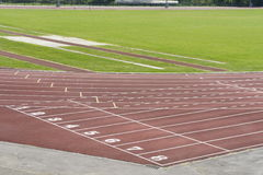 The athletic track Royalty Free Stock Images