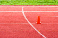 Athletic track Stock Images