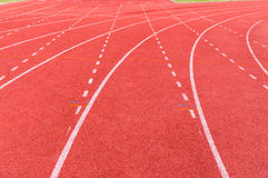 Athletic track Stock Photo