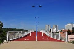 Athletic track, bridge Royalty Free Stock Photography