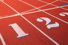 Athletic track detail Royalty Free Stock Photos