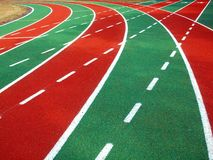 Athletic Track and Field Markings Stock Images
