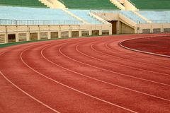 Athletic Track and Field Markings Stock Photos