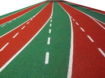 Athletic Track Markings Royalty Free Stock Photo