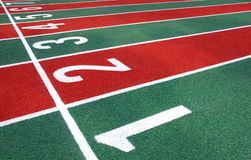 Athletic Track Markings Royalty Free Stock Images