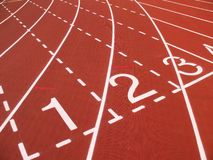 Athletic Track Markings Stock Photo