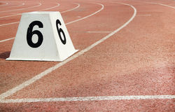 Athletic track Royalty Free Stock Image