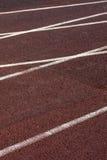 Athletic track on the stadium. Royalty Free Stock Photo