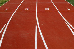 Athletic tracks Stock Photo