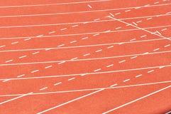 Athletic tracks Stock Image