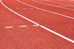 Athletic tracks Stock Images