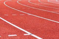 Athletic tracks Stock Photos