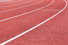 Athletic tracks Royalty Free Stock Photos