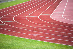 Athletic tracks Royalty Free Stock Photography
