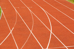 Athletic tracks, sport background. Red running tracks in for school athletics, athletic background royalty free stock image