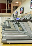 Athletic treadmills Royalty Free Stock Photography