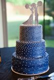 athletic wedding cake royalty free stock photo