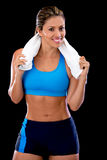 Athletic woman Stock Images