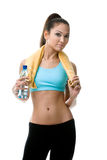 Athletic woman with bottle of water Stock Photos